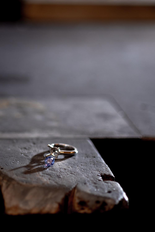 Produzierter Ring aus der Goldschmiede